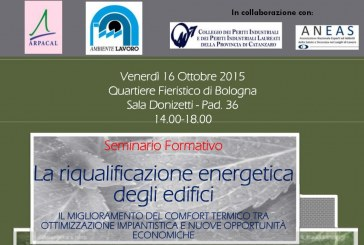 """AMBIENTE LAVORO 2015 – Seminario """"la riqualificazione energetica degli edifici"""""""