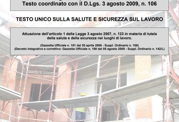 Rev. Luglio 2018 del TESTO UNICO SULLA SALUTE E SICUREZZA SUL LAVORO