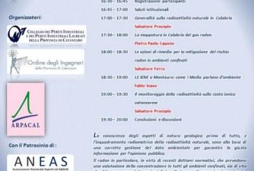 """Seminario sulla """"Radioattività naturale in Calabria: conoscere per informare"""""""