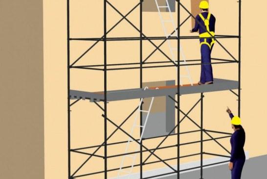 Sicurezza edile, uno studio Inail sui ponteggi in regola con la normativa europea
